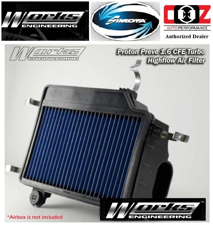 WORKS ENGINEERING SIMOTA DROP IN AIR FILTER PROTON PREVE CFE 1.6 12-ON