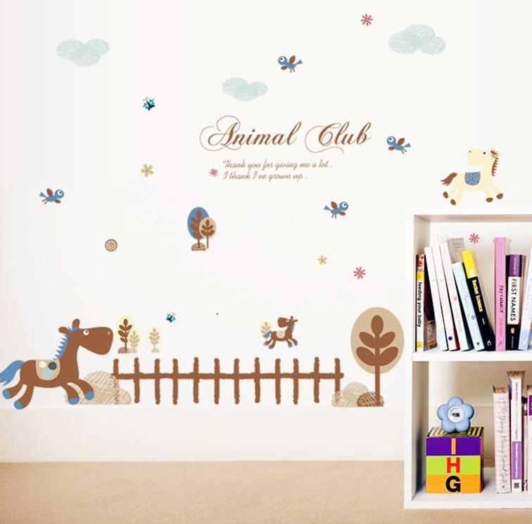 WS0225 ANIMAL CLUB WALL STICKER