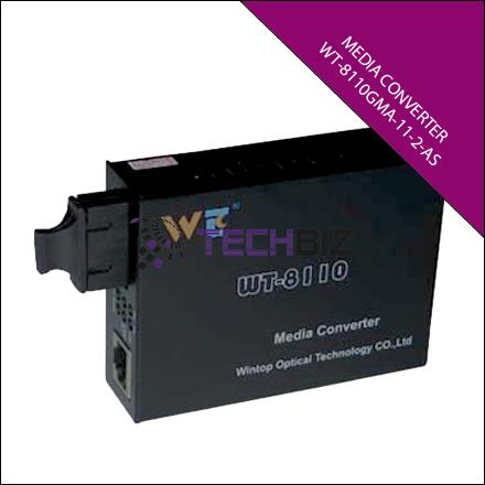 WT-8110GMA-11-2-AS 10/100/1000M GIGABIT MULTI MODE 2KM MEDIA CONVERTER