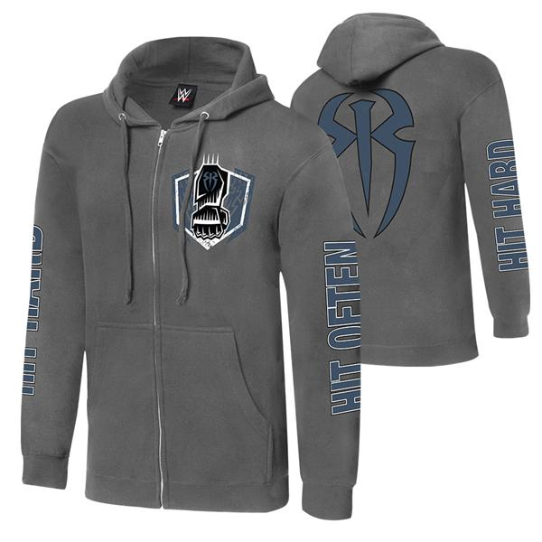 WWE Roman Reigns Hit Hard Hit Often Unisex Full Zip Sweatshirt