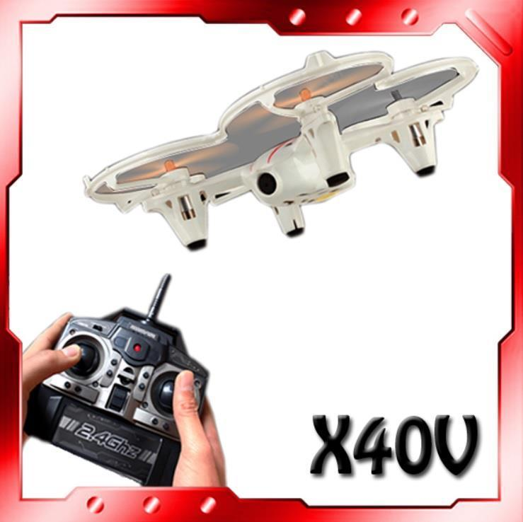 X40 2.4GHz 6-Axis Stunt Flying UFO Aircraft with Camera, Gyroscope & L