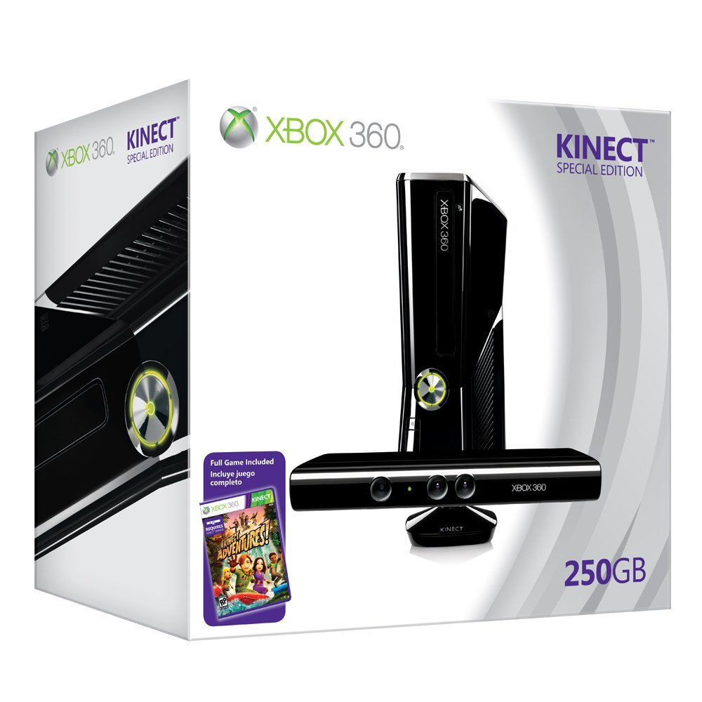 XBOX 360 SLIM 250GB CONSOLE WITH KINECT + FULL GAMES