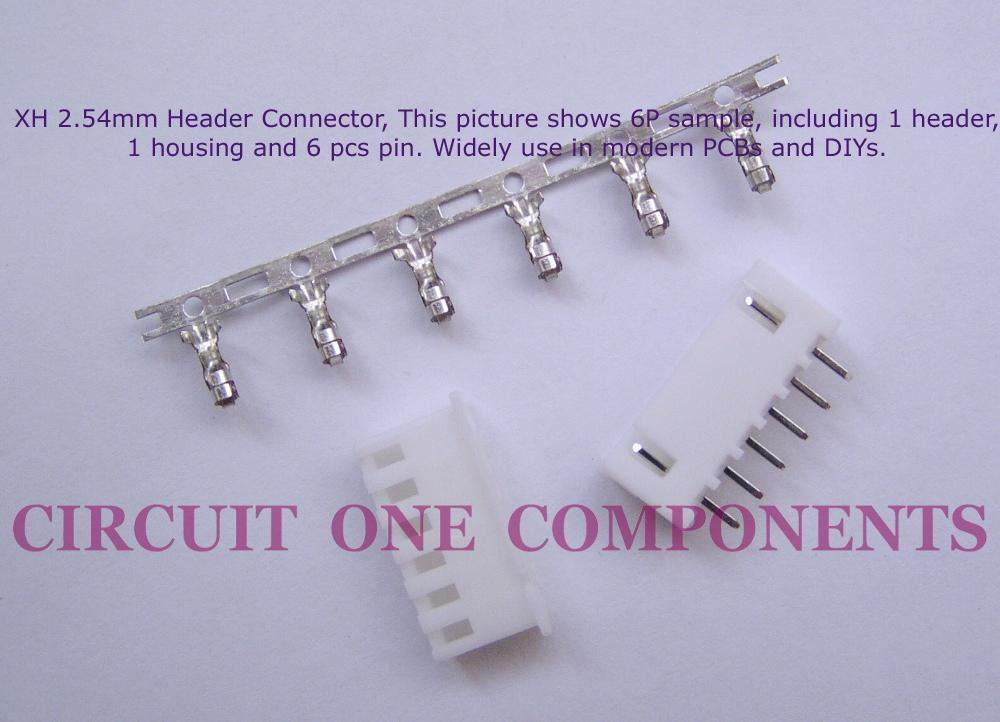 XH2.54mm 3P Header Connector Set - each