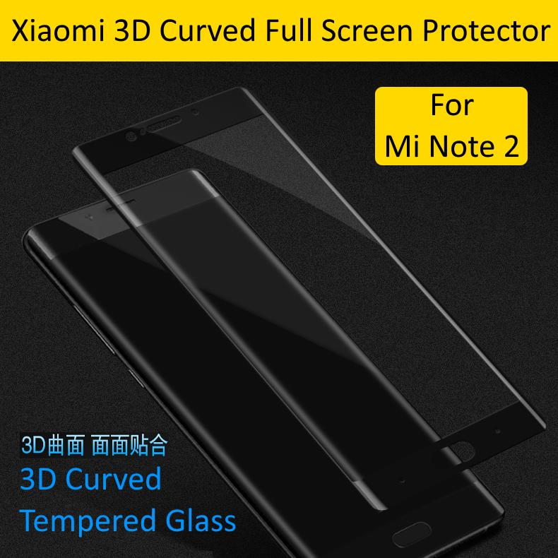 Xiaomi Mi Note 2 3D Curved Tempered Glass Full Screen Protector
