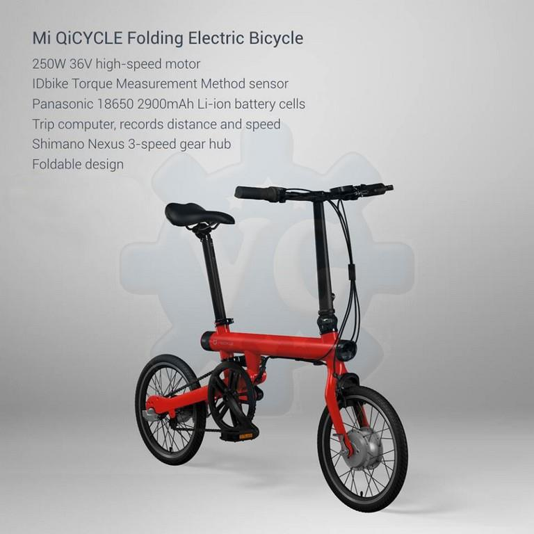 xiaomi qicycle smart electric foldable bicycle bike. Black Bedroom Furniture Sets. Home Design Ideas