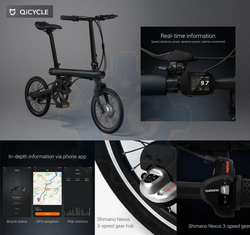 Xiaomi QiCycle Smart Foldable Bicycle Bike Shimano Original -Ready stk