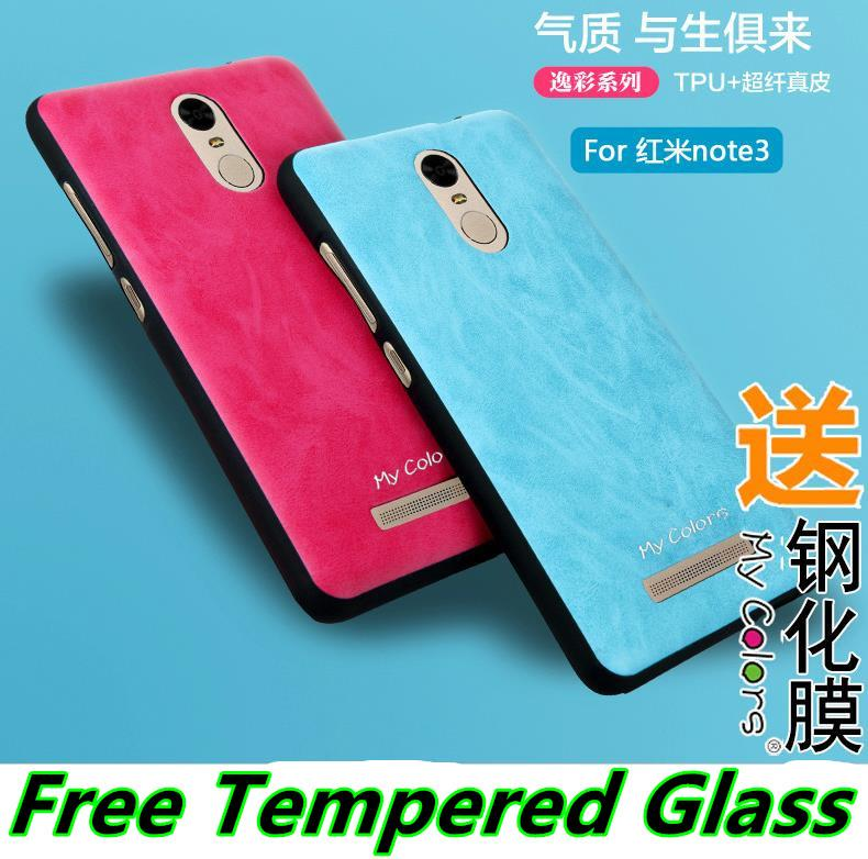 Xiaomi Redmi Note 2 3 Pro Leather TPU Case Cover Casing Tempered Glass