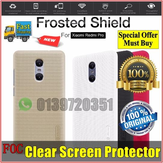 Xiaomi Redmi Pro Nillkin Frosted Shield Hard Back Cover Casing