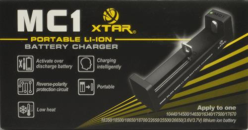 Xtar MC1 Charger single Bay Lithium-ion Battery Charger