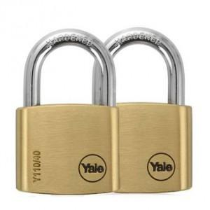 Yale Classic Series Outdoor Solid Brass Padlock 40mm Y110/40/123/2