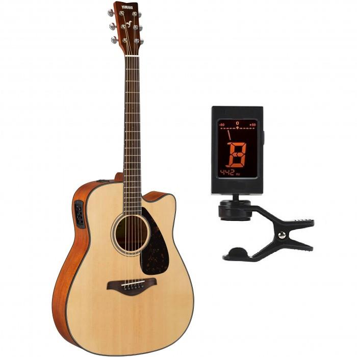 Yamaha FGX800C Acoustic-Electric Guitar (Free Tuner)