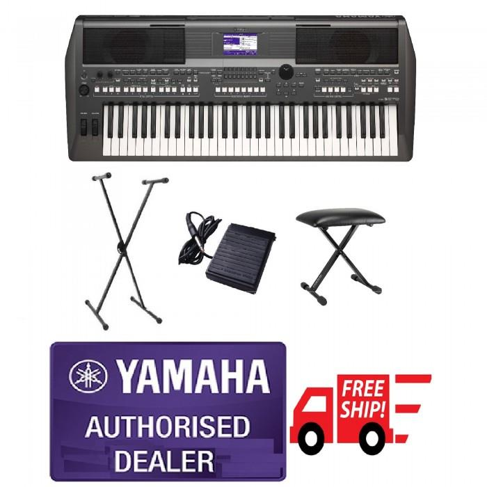 Yamaha PSR-S670 Portable Keyboard Package B (Free Shipping to Whole Ma