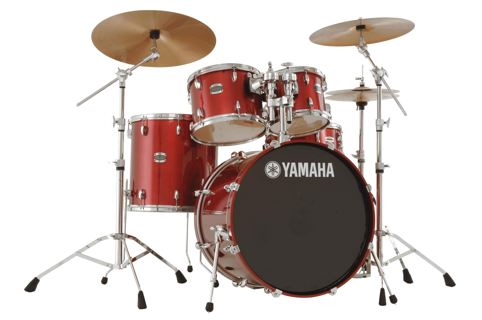 Yamaha Stage Custom All Birch Acoustic Drum Set Cranberry Red