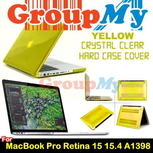 YELLOW  MacBook Pro Retina 15 15.4 A1398 Clear Hard Case Cover
