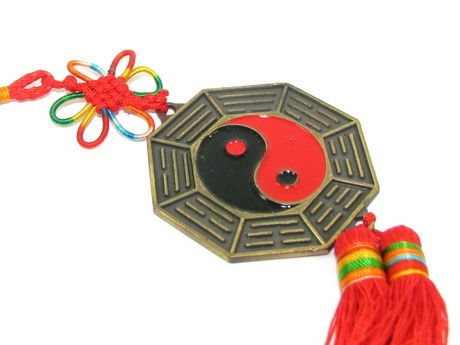 Yin Yang Tai Chi 12 Horoscope Bagua Mirror Tassels for Protection