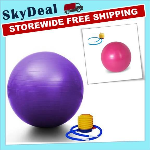 Yoga Ball Exercise Body Fitness 75cm (FREE PUMP)