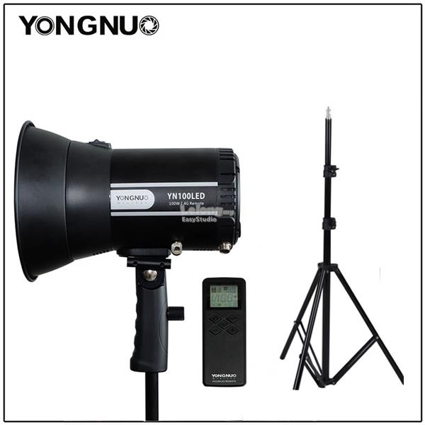 Yongnuo YN100LED LED Video Sun Light 5500K w Adapter & Remote & Stand