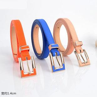 Youth Alloy Buckle Thin Belt