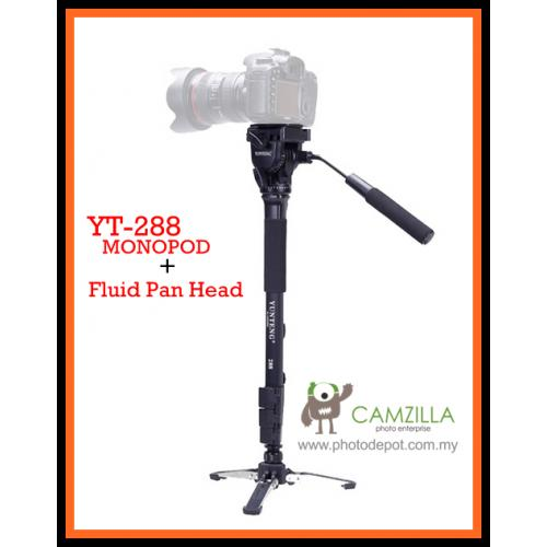 Yunteng VCT-288 Video Camera Monopod With Fluid Head For DSLR Video