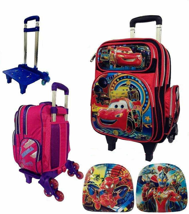 Zebra Boy Detachable Trolley School Bag 6 Wheels TSZ-16631(16)