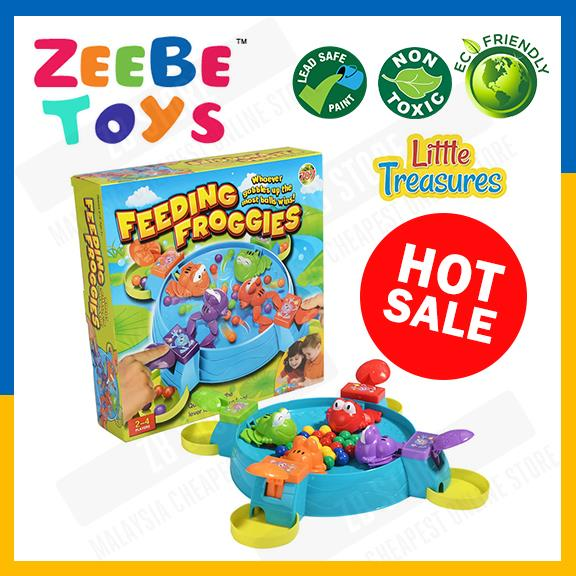 ZEEBE Feeding Froggies Board Game Play Fun Kids Balls Frog Toys