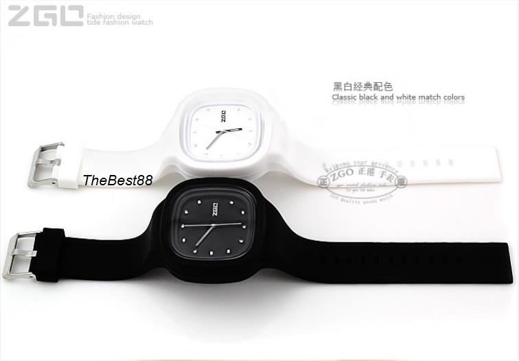 ZGO Watch WHITE Soft Silicone Mix & Match Korean Design W882W