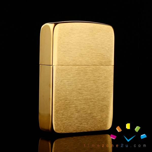 ZIPPO Z43 Classic Style Brushed Brass Golden Windproof Lighter (#204B)