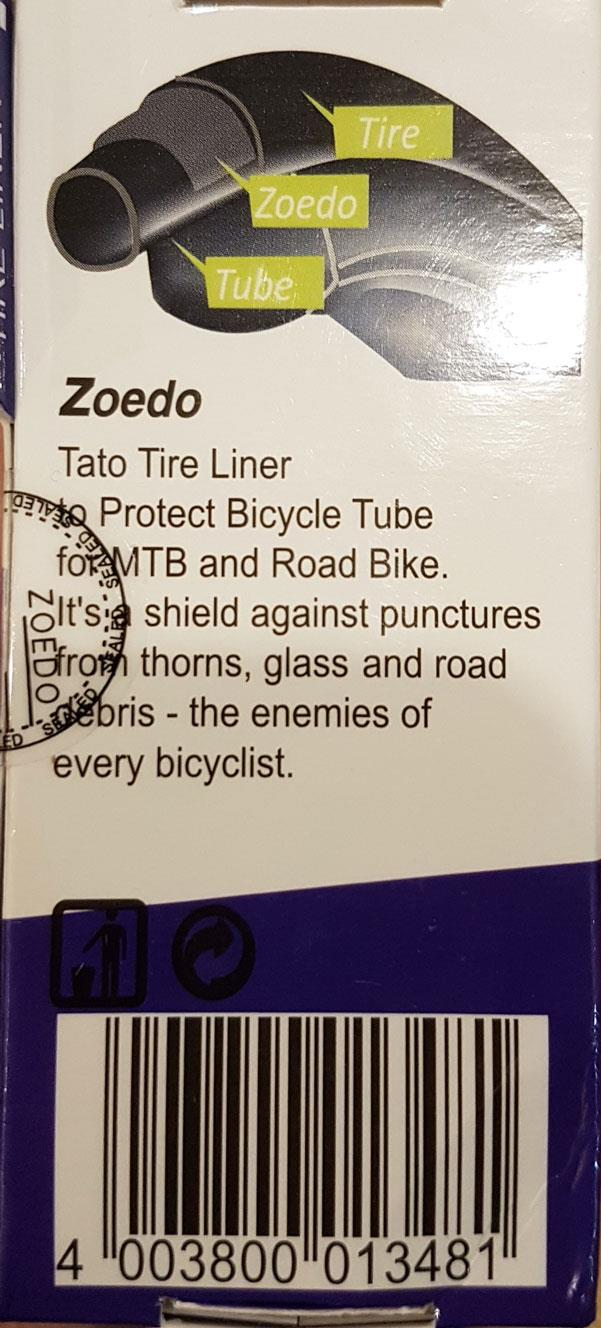 ZOEDO TIRE LINER PUNCTURE PROOF FOR ROADBIKE 700C TYRE PROTECTION