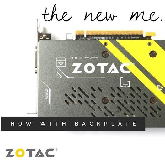ZOTAC GTX 1060 AMP Edition SE (WITH BACKPLATE) 6GB GDDR5