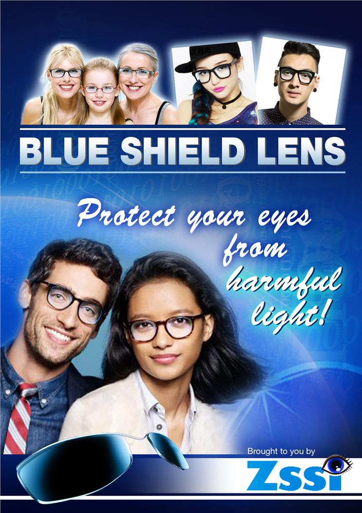 [Zssi] Blue Shield Lens Ophthalmic Lens by Order Made