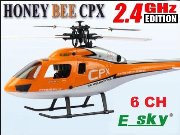 Esky 6 CHANNEL HONEY BEE CPX 2.4 GHZ RC CCPM HELICOPTER!! HOT