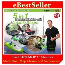 FREE GIFT + H2O Mop X5 5 in1, X10 10in1 Multi-Floor Steam Mop Cleaner