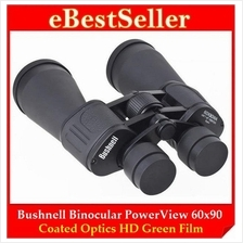 FREE GIFT+ Bushnell Binocular Telescope 60x90 Coated Optics Green Film