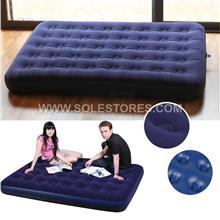 Flocked Coil Beam Inflatable Double Air Bed Mattress