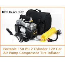 Portable 150 PSI Twin Cylinder Air Pump Compressor Tire Inflator