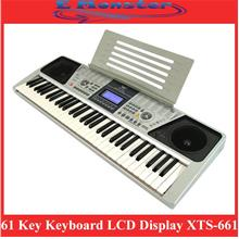 61 Key Electronic Keyboard Piano Organ LCD Display XTS-661 English Ver