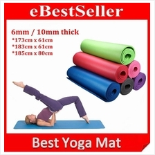 6mm / 10mm Non Slip yoga Mat Aerobic GYM Fitness Yoga Ball exercise