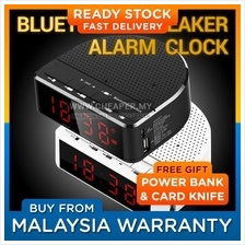 Bluetooth Wireless Speaker with Alarm Clock, Radio, Memory Card, USB