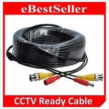 2 in 1 CCTV Ready Cable, 10m 15m 20m 25m With BNC + DC Power Connector