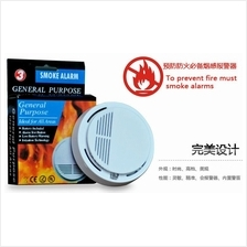 Wireless Photoelectric Home Smoke Fire Alarm ~ Free 9V DC Batteries