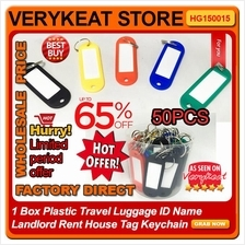 1 Box Plastic Travel Luggage ID Name Landlord Rent House Tag Keychain