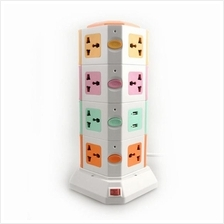 2/ 3/ 4 Layer Extension Cord Vertical Socket Tower with USB Port