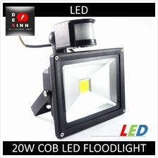 20W Waterproof IP65 with PIR Motion Sensor COB LED Flood light Outdoor