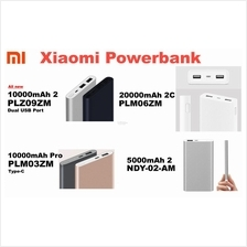 XIAOMI MI Power Bank 5000mah, 10000mah v2 20000mah Gen 2 Powerbank PRO