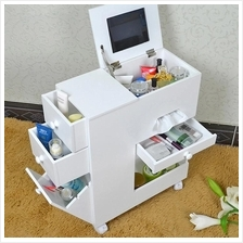 Korean Dresser Makeup Storage Mobile Vanity Beauty Home Decor  Bedroom