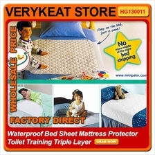 Waterproof Bed Sheet BedSheet Mattress Protector ToiletTraining 3Layer
