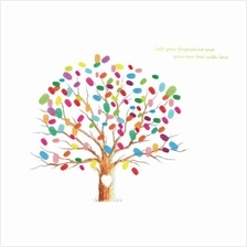 Wedding Fingerprint Tree Signature Guest Book for Wedding Party