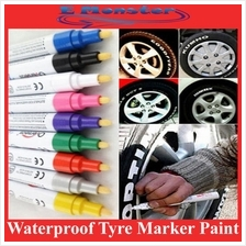 Vehicle Car Tyre Tire Tayar Waterproof Touch Up Paint Marker Pen