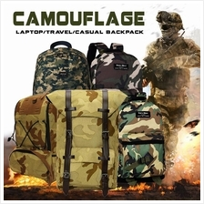 Camo Leisure Laptop Travel Casual Backpack Army Design School Bag