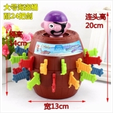 Running Man Pop Up Pirate Lord Barrel Roulette Game Party XL Size TOY